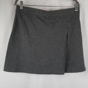 Lands' End heather gray cotton knit skort size 12